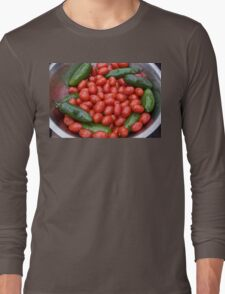 Colorful Tomato Pepper Bowl Long Sleeve T-Shirt