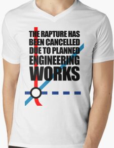 The Rapture Has Been Cancelled Due To Planned Engineering Works Mens V-Neck T-Shirt