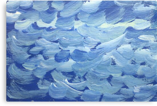 Impression White Capped Waves by Thomas Murphy