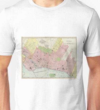 Vintage Map of Montreal (1903) Unisex T-Shirt