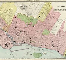 Vintage Map of Montreal (1903) by BravuraMedia