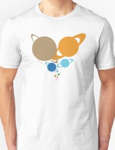 Solar System Heart (to scale) dark version T-Shirt
