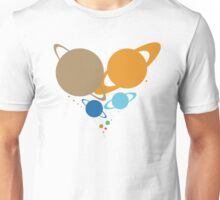 Solar System Heart (to scale) dark version Unisex T-Shirt