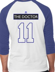Team Smith (The Doctor Jersey #11, Version TaRDiS) Men's Baseball ¾ T-Shirt