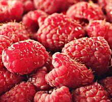 Red Red Raspberries by Karen Tregoning