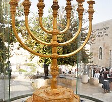 Israel, Jerusalem, Old City, Replica of the Temple Menorah by PhotoStock-Isra