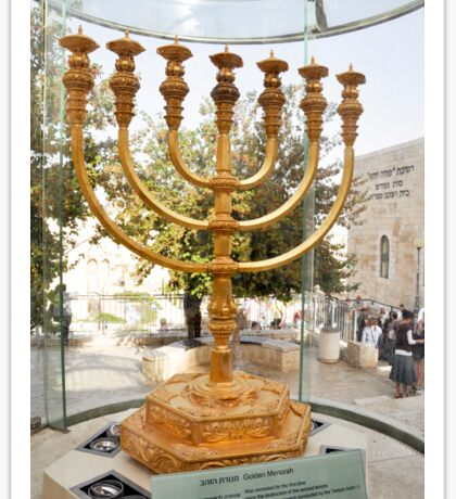 Israel, Jerusalem, Old City, Replica of the Temple Menorah Sticker