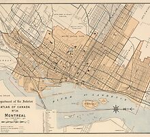 Vintage Map of Montreal (1906) by BravuraMedia