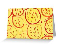 Impression Pomegranate Greeting Card
