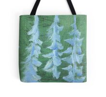 Impression Snowy PIne Trees Tote Bag