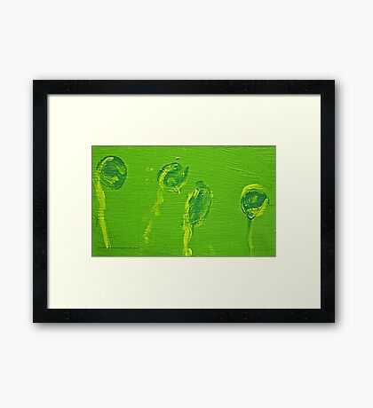 Impression Green Water Blossoms Framed Print