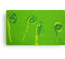 Impression Green Water Blossoms Canvas Print