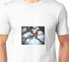 Cardinal on a wire Unisex T-Shirt
