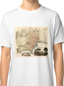 Vintage Map of Naples Italy (1835) Classic T-Shirt