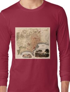 Vintage Map of Naples Italy (1835) Long Sleeve T-Shirt