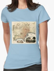 Vintage Map of Naples Italy (1835) Womens Fitted T-Shirt