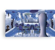 Dining with Magritte after death  Canvas Print