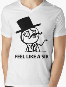 Feel Like A Sir (HD) Mens V-Neck T-Shirt