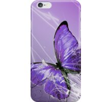 Purple Abstract Butterly iPhone Case/Skin