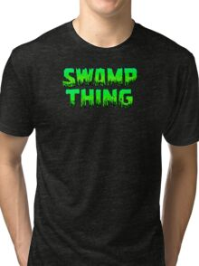 Swampy Thing - Green  Tri-blend T-Shirt