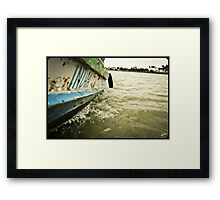 India Boat Framed Print