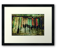 Pick a Pen Framed Print