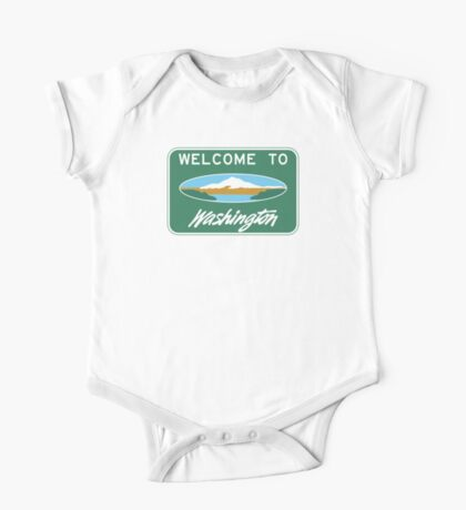 Welcome to Washington, Road Sign, USA One Piece - Short Sleeve