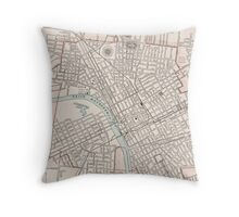 Vintage Map of Nashville Tennessee (1901) Throw Pillow