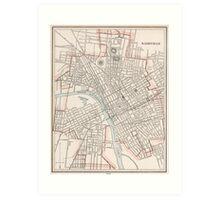 Vintage Map of Nashville Tennessee (1901) Art Print