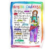 Artist Goddess` Poster