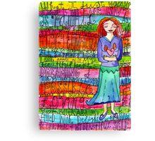 Glad Goddess Canvas Print