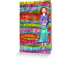 Glad Goddess Greeting Card