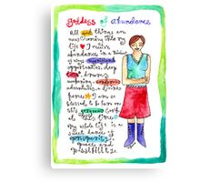 Goddess of Abundance Canvas Print