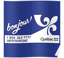 Welcome to Quebec, Canada Road Sign Poster