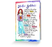 Healer Goddess Greeting Card