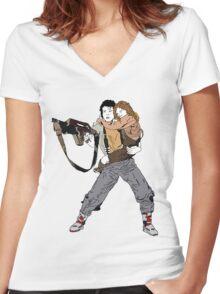 Ripley & Newt Women's Fitted V-Neck T-Shirt