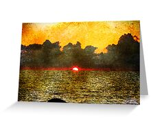 Faded Sunset Greeting Card