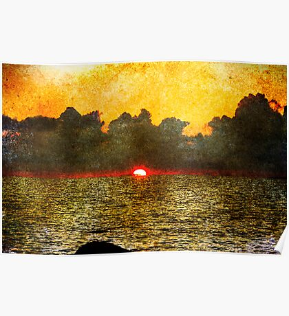 Faded Sunset Poster