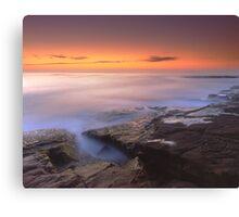 """A Silken Sea"" ∞ Merimbula, NSW - Australia Canvas Print"