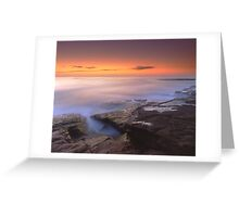 """A Silken Sea"" ∞ Merimbula, NSW - Australia Greeting Card"