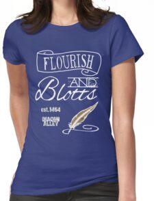 Flourish & Blotts. Womens Fitted T-Shirt