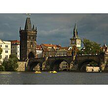 View of Charles Bridge in Prague Photographic Print