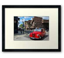 Red cab in London - England Framed Print
