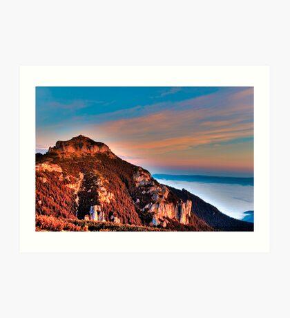 mountain peak Ceahlau Toaca Art Print