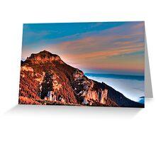 mountain peak Ceahlau Toaca Greeting Card