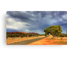 Road into the Storm Canvas Print