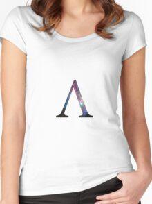 Lambda Greek Letter Women's Fitted Scoop T-Shirt