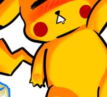 Drunk Pikachu Sticker
