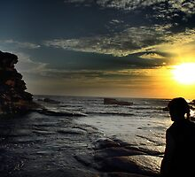 sunrise silhouette at terrigal  by Samuel Hunter
