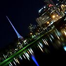 Melbourne at Night 0202 by Kayla Halleur
